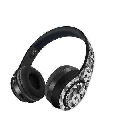 Camo Effect Grey - Decibel Wireless On Ear Headphones