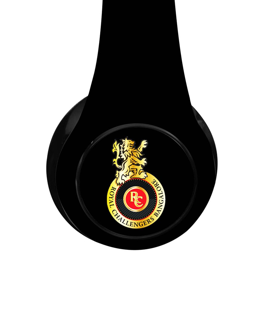 Play Bold RCB Logo - Decibel Wireless On Ear Headphones