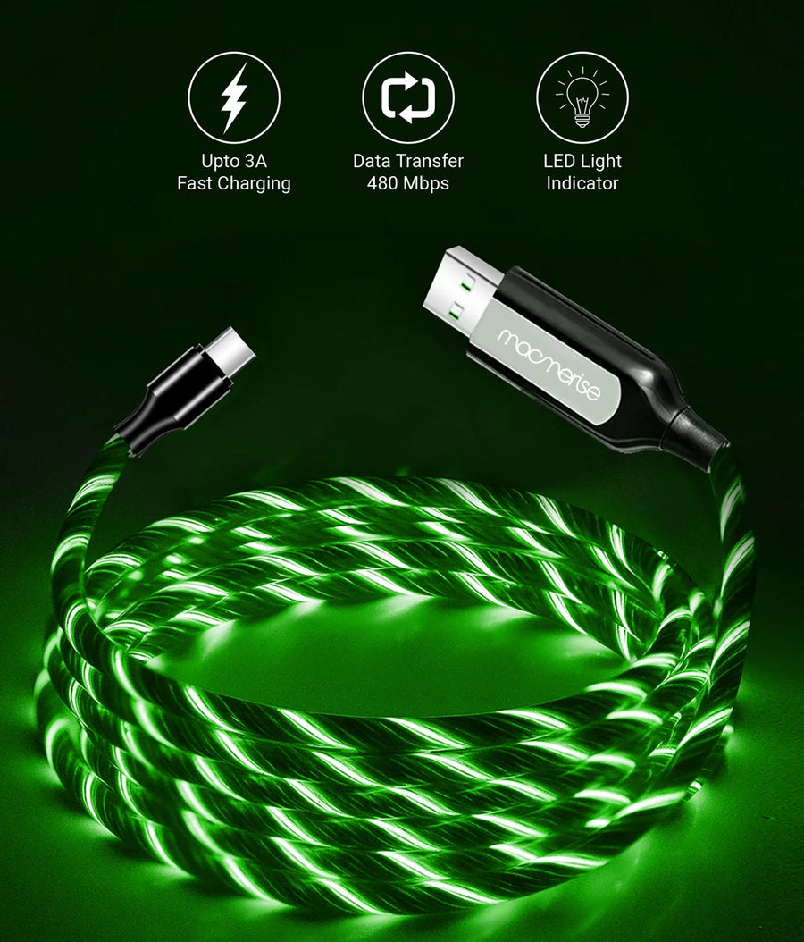 Macmerise Illume Green - Type C LED Cables