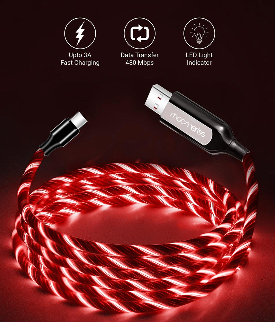 Macmerise Illume Red - Type C LED Cables