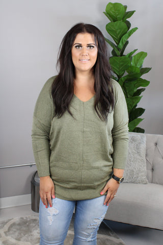 Sophie Softie Sweater - Heathered Olive