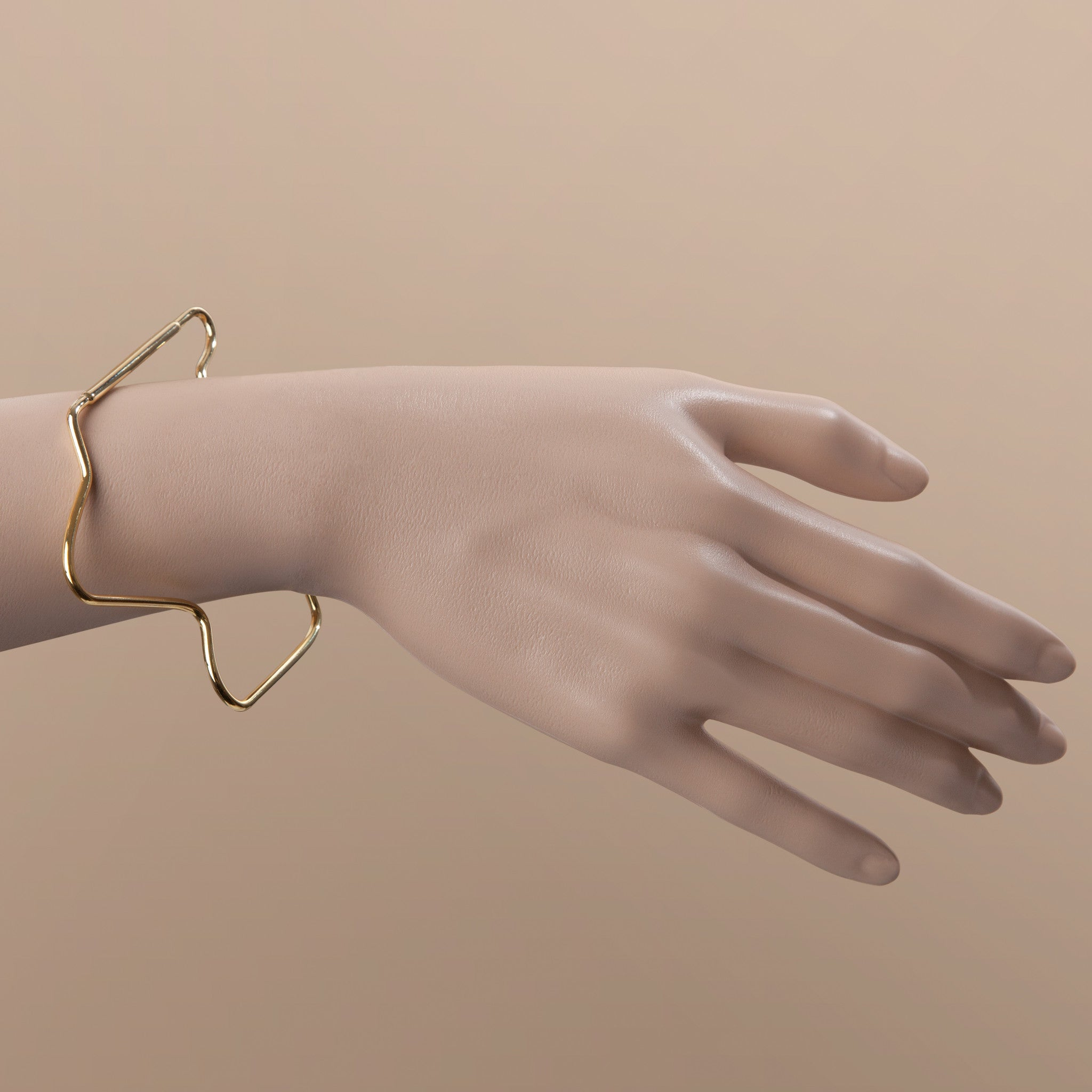 STRESSED OUT BANGLE GOLD