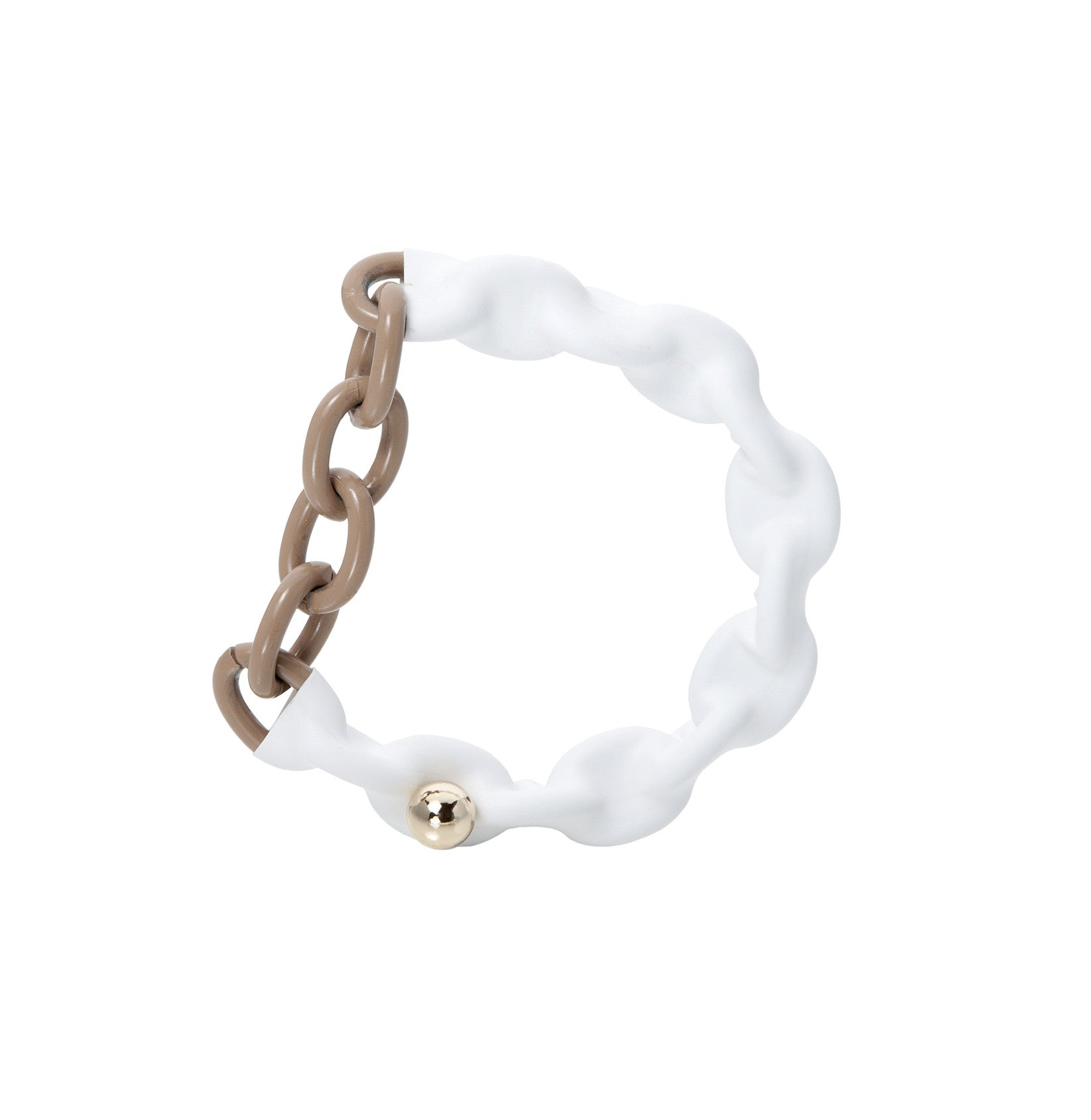 MENTOS BRACELET WHITE AND TAUPE