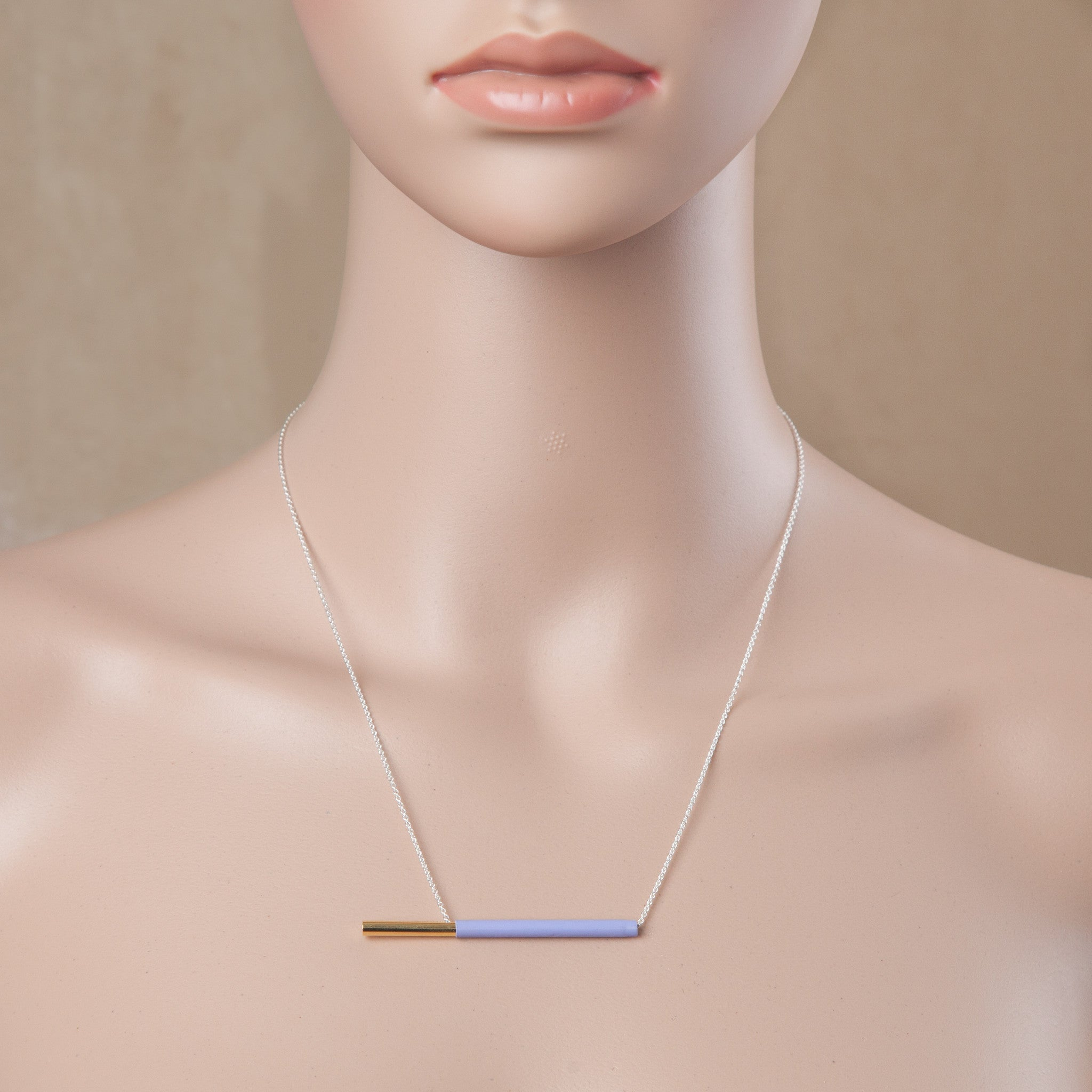 POCKY NECKLACE LAVENDER
