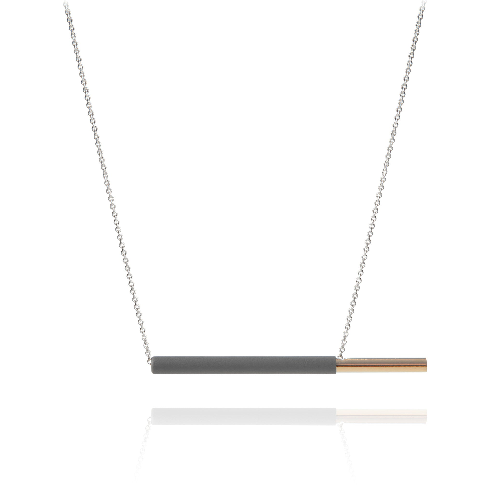 POCKY NECKLACE GREY