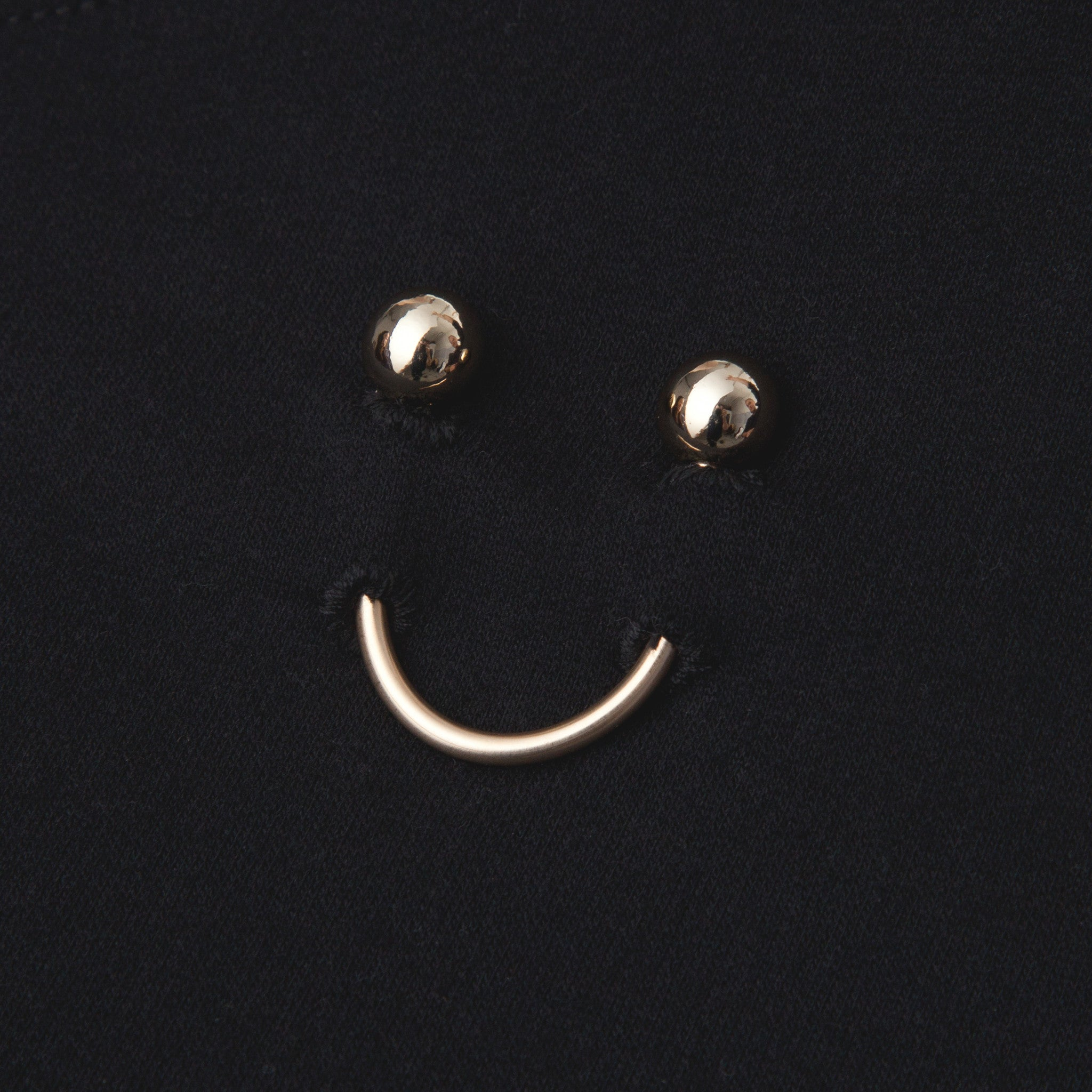 FAUX/real APPAREL SMILEY PIERCING BLACK