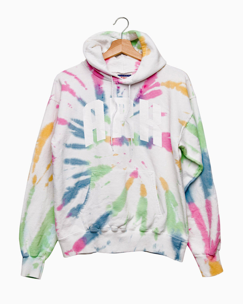 ARK Divine Tie Dye Hoodie with White Letters