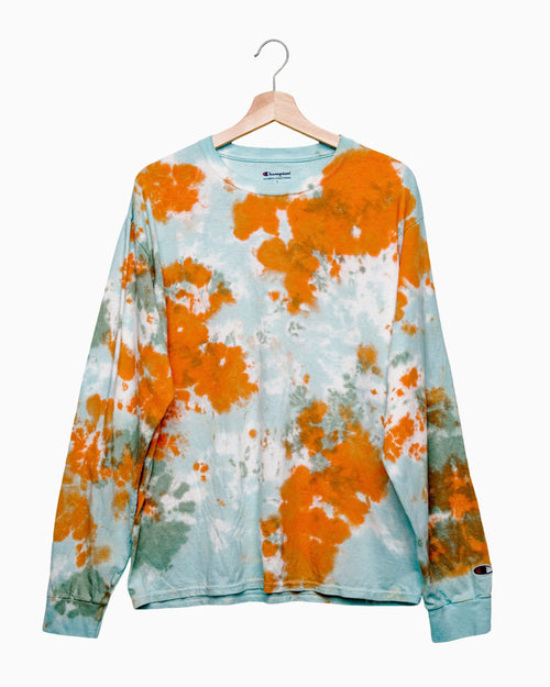 Fall Cloud Tie Dye Long Sleeve Champion Tee