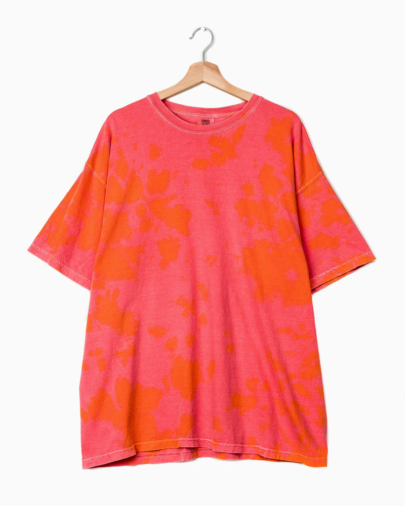 Watermelon Overdye Tie Dye Comfort Colors Tee (4648307490919)