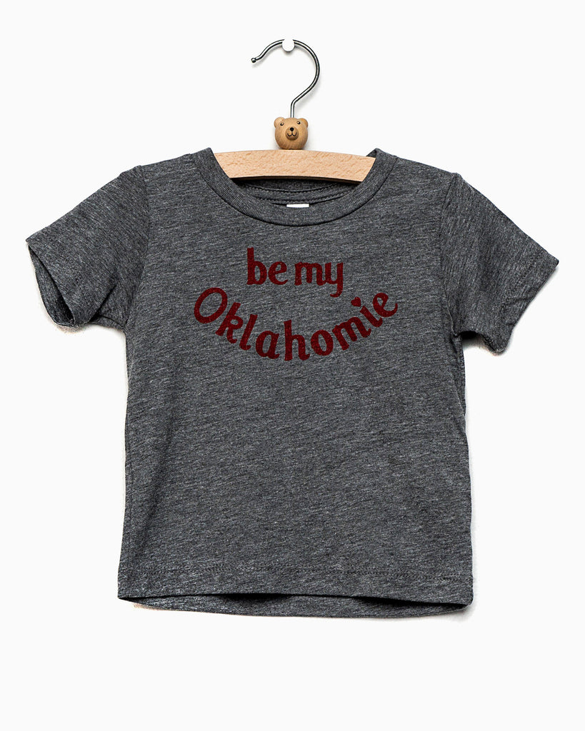 Children's Be My Oklahomie Gray Tri-Blend Tee (577586495516)