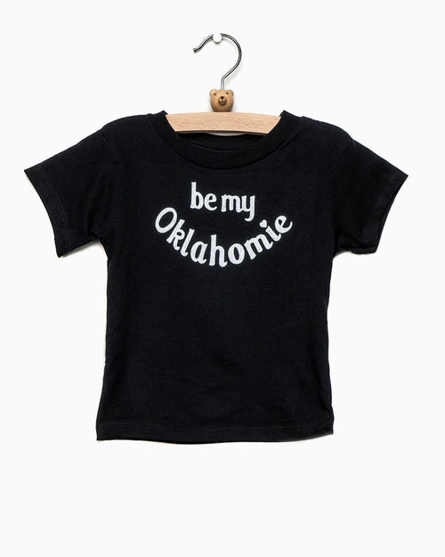 Children's Be My Oklahomie Black Tee with White Letters (4457073705063)