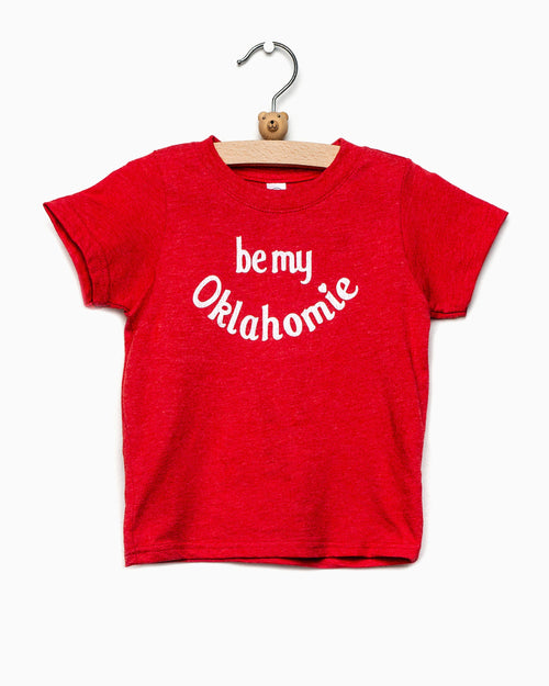 Children's Be My Oklahomie Red Tee with White Letters (4457074294887)