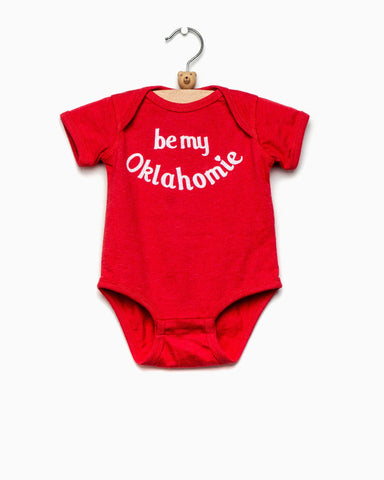 Children's Oklahoma Sweater Bison Red Tee (FINAL SALE)