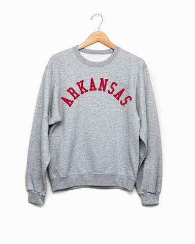 Arkansas Flocked Gray Tee