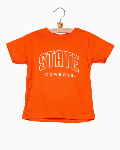 Children's OSU State Helmet Gray Sweatshirt