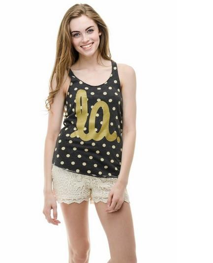 Louisiana LA polka dot tank - shoplivylu  - 1 (6372442372)