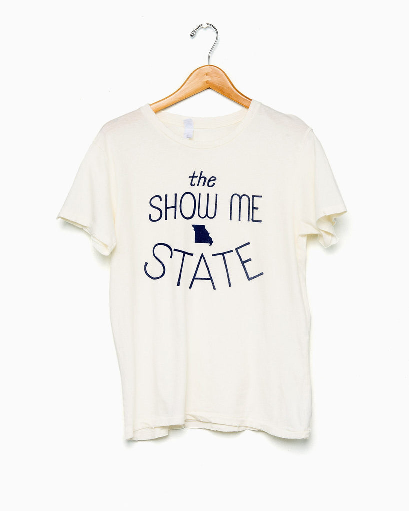 Cream Missouri Show Me State Distressed Tee - shoplivylu  - 1