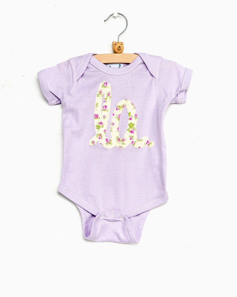 Children's LA Louisiana Floral Purple Onesie