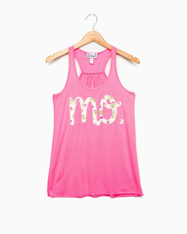 MO Floral Gray Flowy Tank (FINAL SALE)