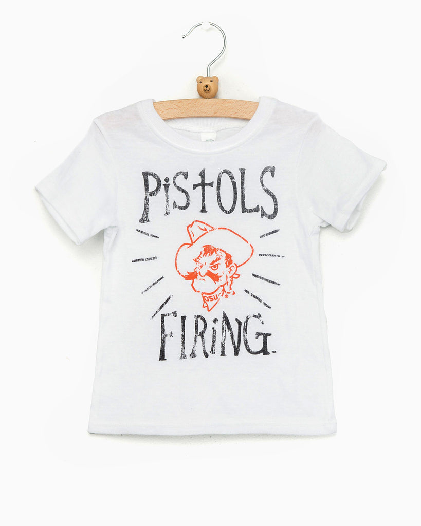 Children's Oatmeal OSU Pistols Firing Native Tee
