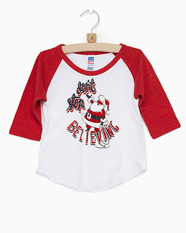 Children's Retro HOGS Circle White/Black Baseball Tee (FINAL SALE)