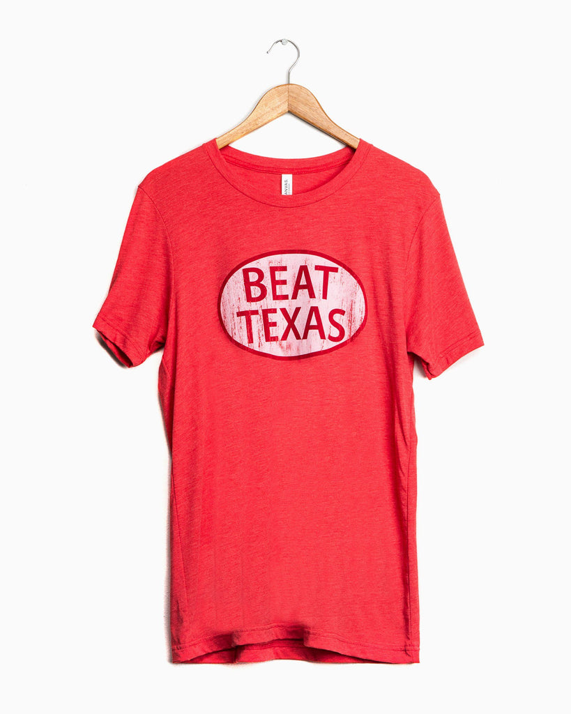 Red Beat Texas Triblend Tee (1438354702439)