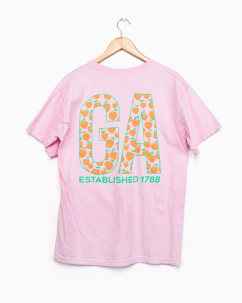 Georgia Peach Light Pink Comfort Colors Tee (FINAL SALE)