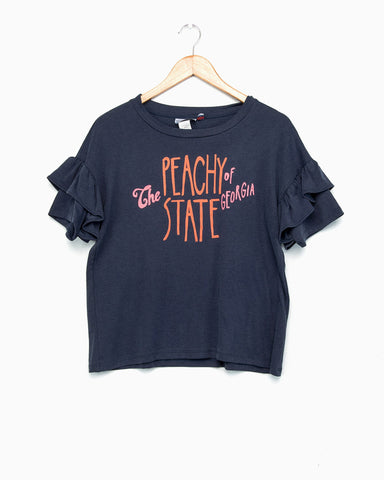The Peach State Blue Slapshot Tee