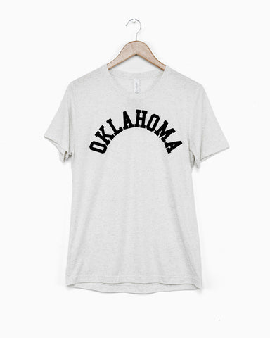 Children's Be My Oklahomie Black Tee with White Letters