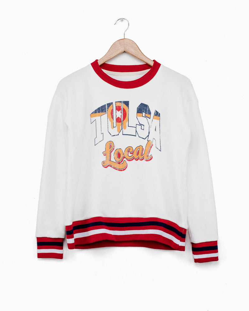 Tulsa Local Flag Varsity Sweatshirt (770663809127)