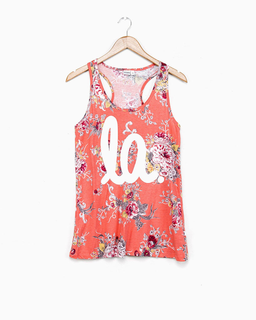 Louisiana LA all over floral coral tank (FINAL SALE) (6372412932)