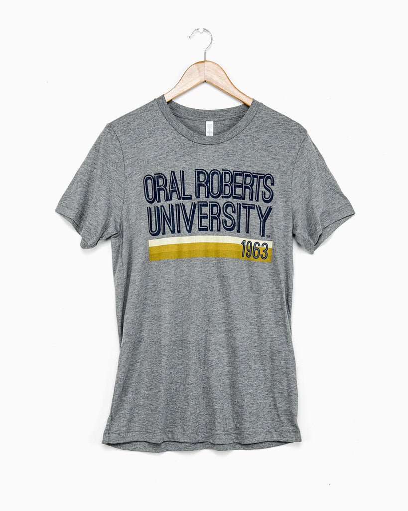 Gray ORU MJ Short Sleeve Tri-blend Tee (FINAL SALE)