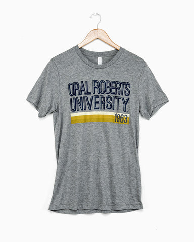 Gray ORU Stacked Tri-blend Tee (FINAL SALE)