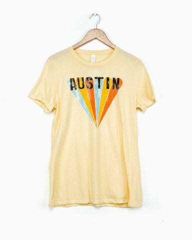Texas Postcard Butter Pigment Dyed Tee