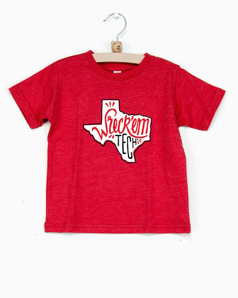 Children's Red Wreck 'Em Tech State Tee (FINAL SALE)