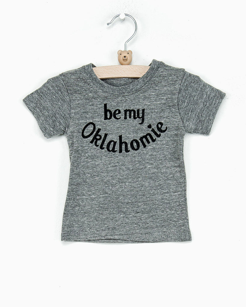 Children's Be My Oklahomie (Black Letters) Gray Tri-Blend Tee (781223329895)