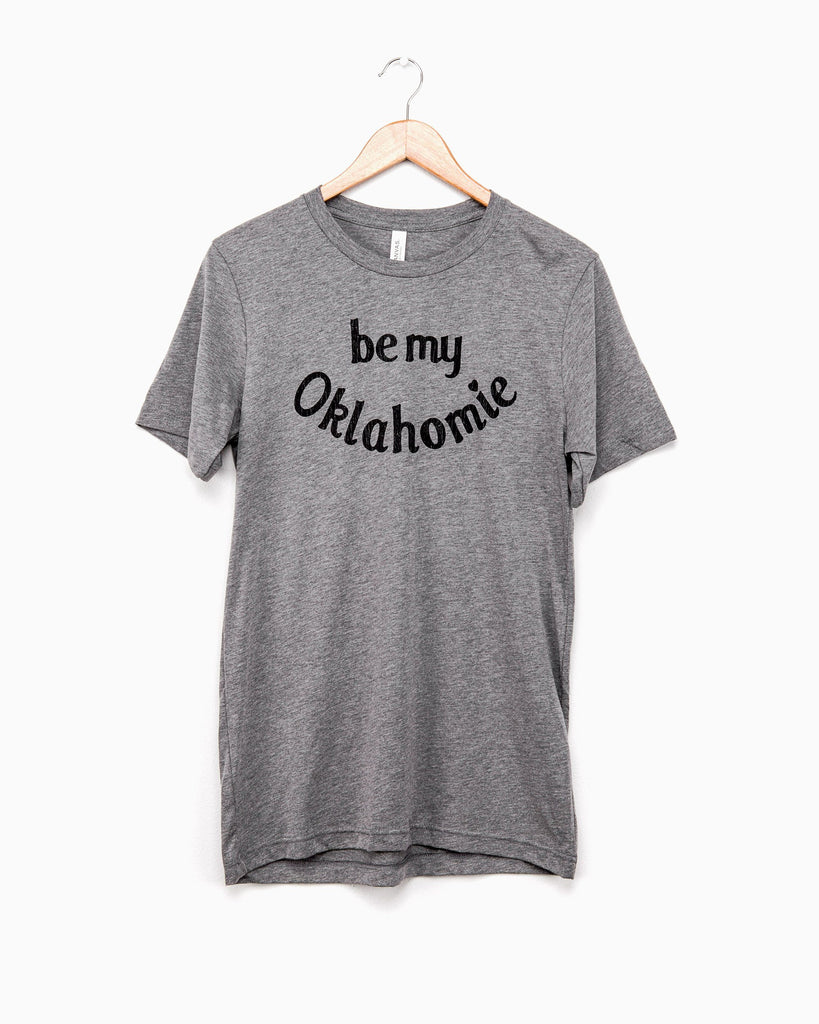 Be My Oklahomie Gray Tri-Blend Tee (617118793756)