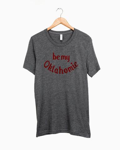 Children's Be My Oklahomie Gray Tri-Blend Tee