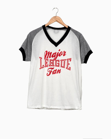 Out of Your League White Tie Front Tee