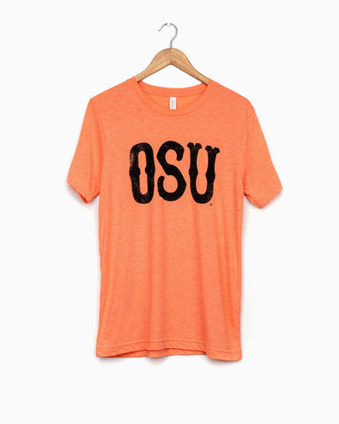 OSU State Puff Ink Black Cropped Tee