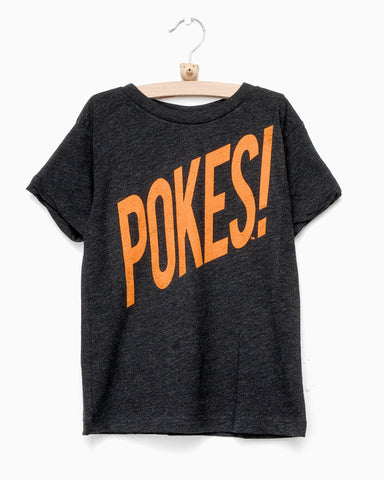 Children's Pokes Wham! Black Onesie