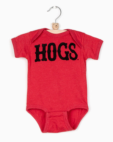 Wooo Pig Sooie Plus Gray Thermal Tie Front Top