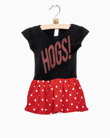 Children's Hogs Western Stamp Red Onesie