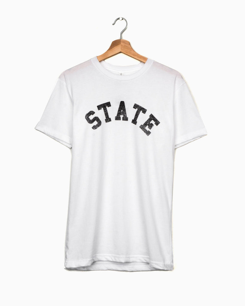 OSU State Arch White Sueded Tee (3982136508519)
