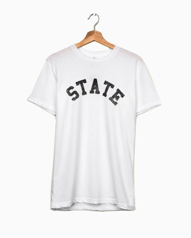 OSU State Black Puff Ink Cropped Sweatshirt