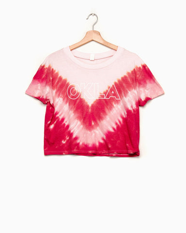 OKLA Sun Sunset Cloud Tie Dye Tee