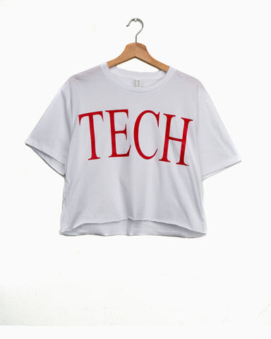 Texas Tech Large Font White Comfort Colors Tee