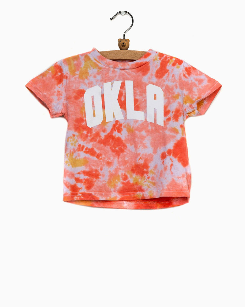 Children's OKLA (white) Sunset Cloud Tie Dye Tee (4649407217767)