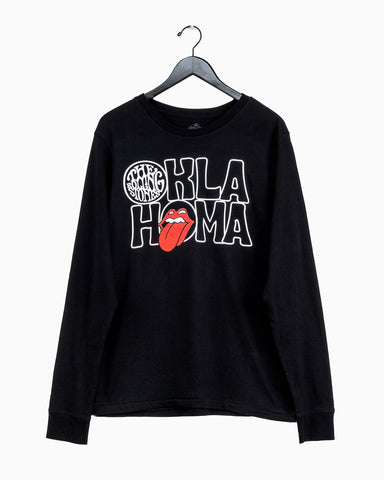 Rolling Stones Tulsa Flag Rocker Gray Champ Terry Sweatshirt