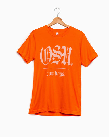 OSU State Arch White Sueded Tee